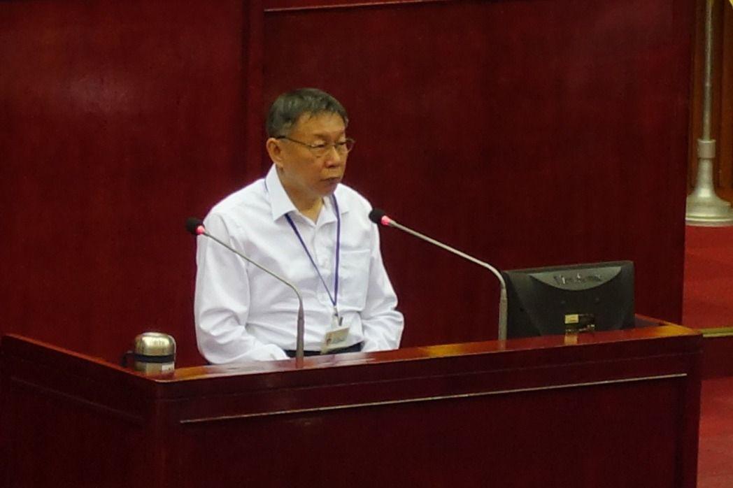 台北市長柯文哲在。聯合報系記者邱瓊玉/攝影