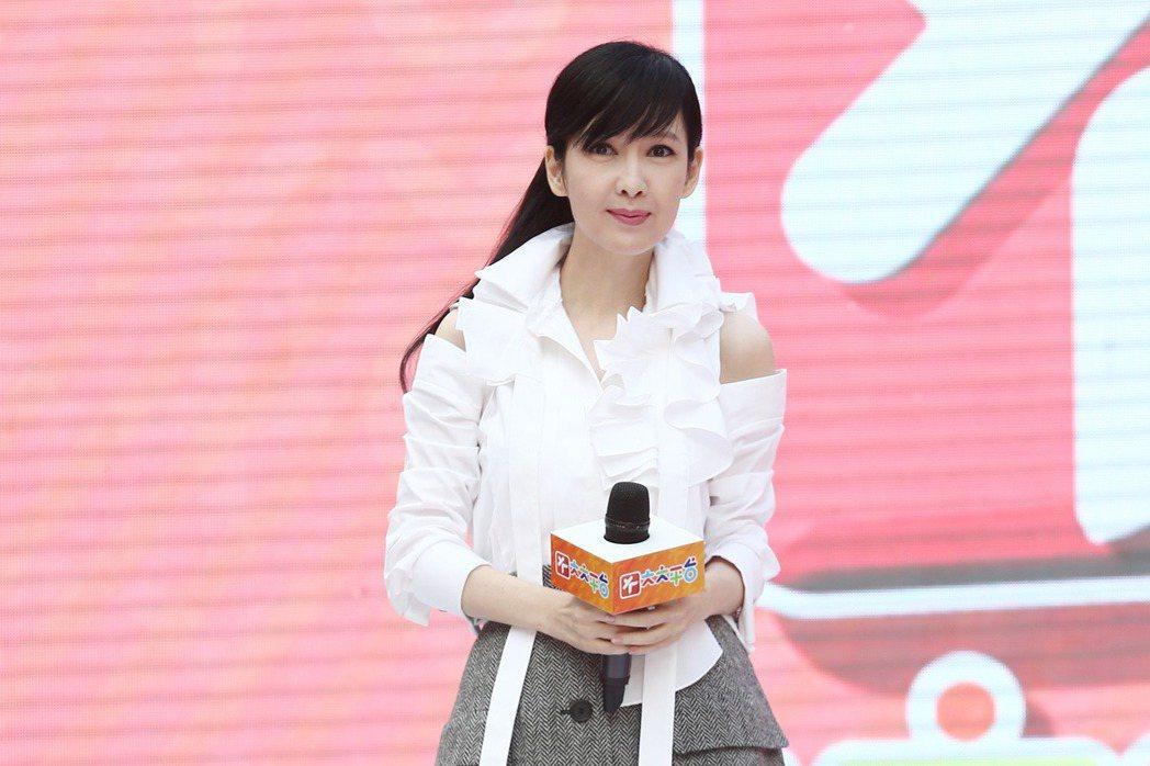 周慧敏出席「大大平台」正式上線記者會。記者蘇健忠/攝影