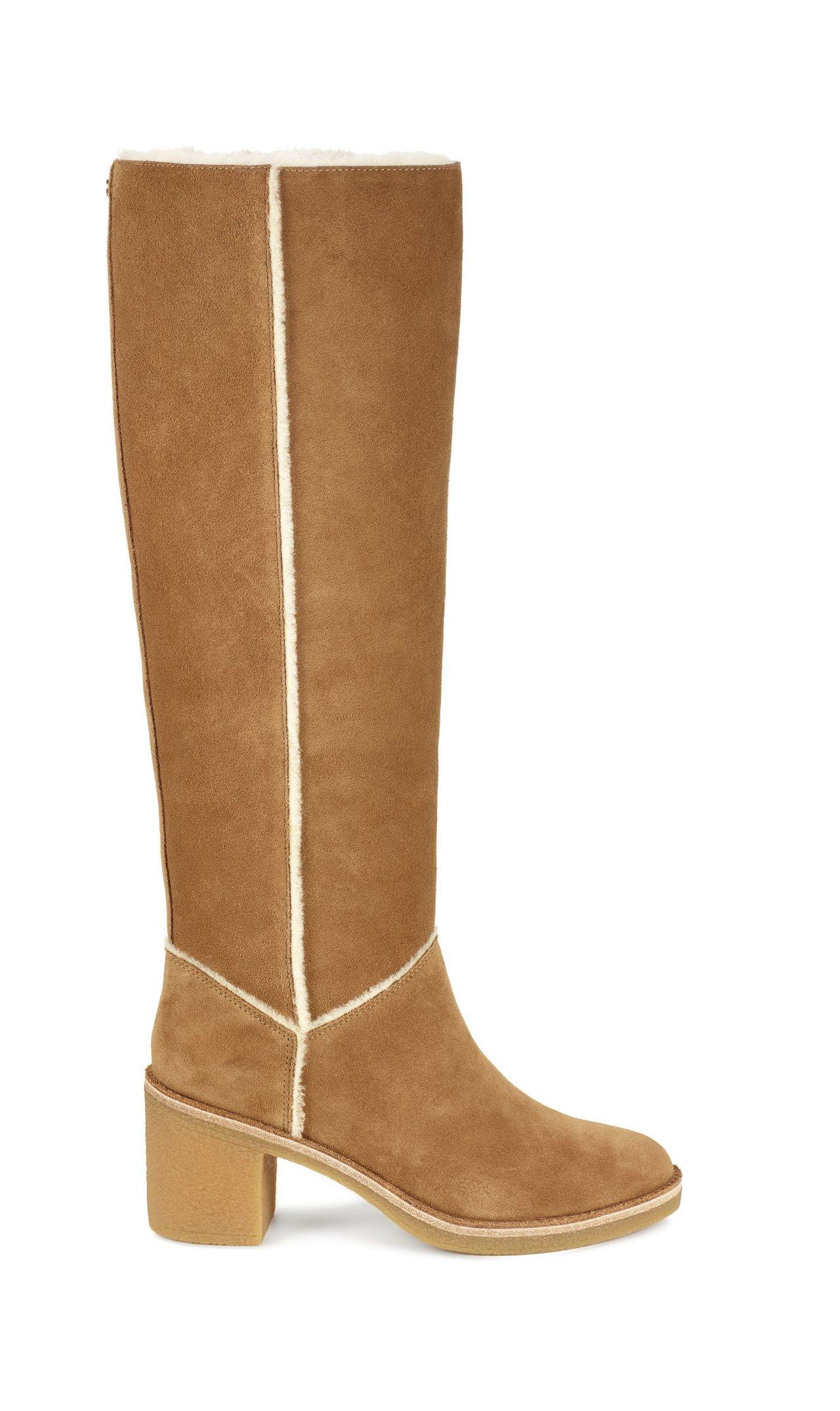 Kasen粗跟長靴,12,500元。圖/UGG提供