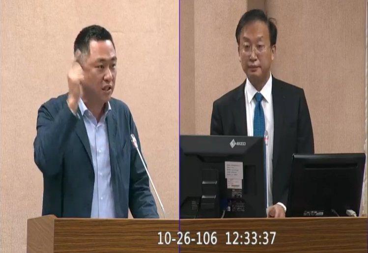 立委楊鎮浯質詢外交部次長吳志中。圖/翻攝立院議事直播畫面
