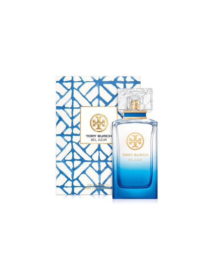 TORY BURCH藍色假期淡香精,50ml售價3,050元、100ml售價4,...