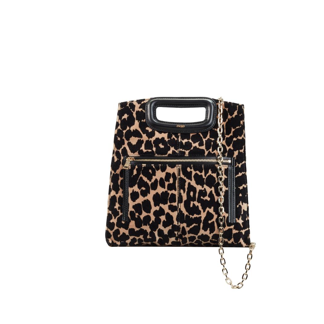 豹紋錘鍊M BAG,售價11,360元。圖/Maje提供
