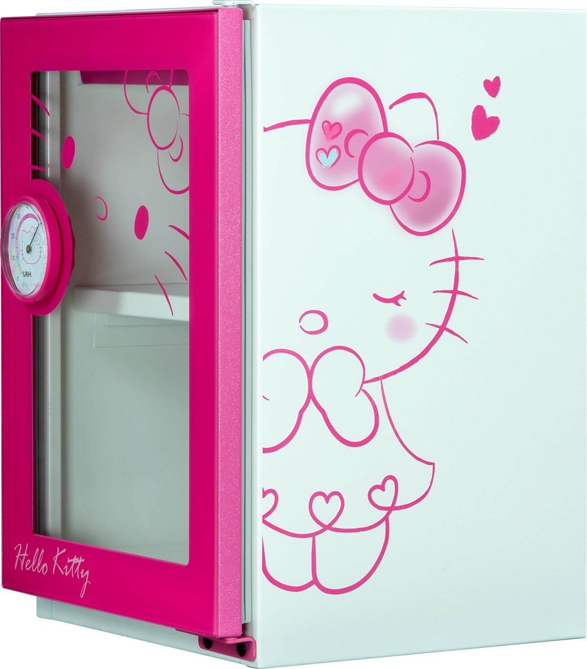 「HELLO KITTY x收藏家」美學防潮箱。圖/收藏家提供