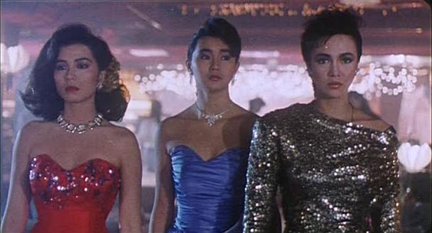 鍾楚紅(左起)、張曼玉、鄭裕玲雖是同經紀公司師姐妹,傳演出「月亮星星太陽」不免暗