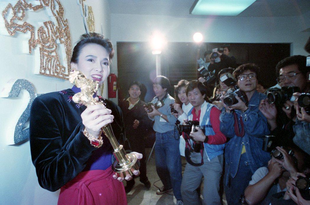 鄭裕玲以「月亮星星太陽」勇奪金馬獎影后。圖/報系資料照片