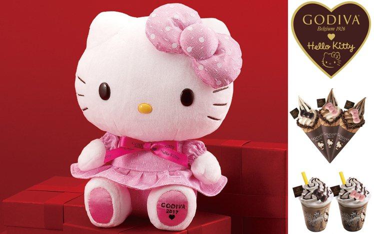 GODIVA於11月1日攜手Hello Kitty推2017全球限量系列。圖/G...