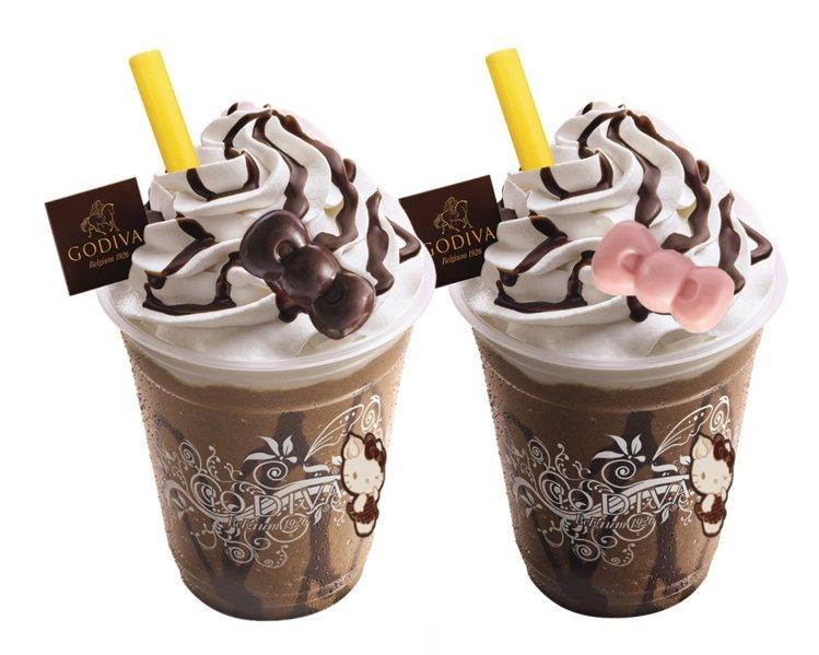 限量Hello Kitty巧克力凍飲,售價200元。圖/GODIVA提供