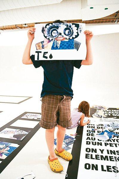 巴黎龐畢度中心首度來台推廣藝術教育,於十二月舉辦「兒童藝術工作坊」。 圖╱聯合數...