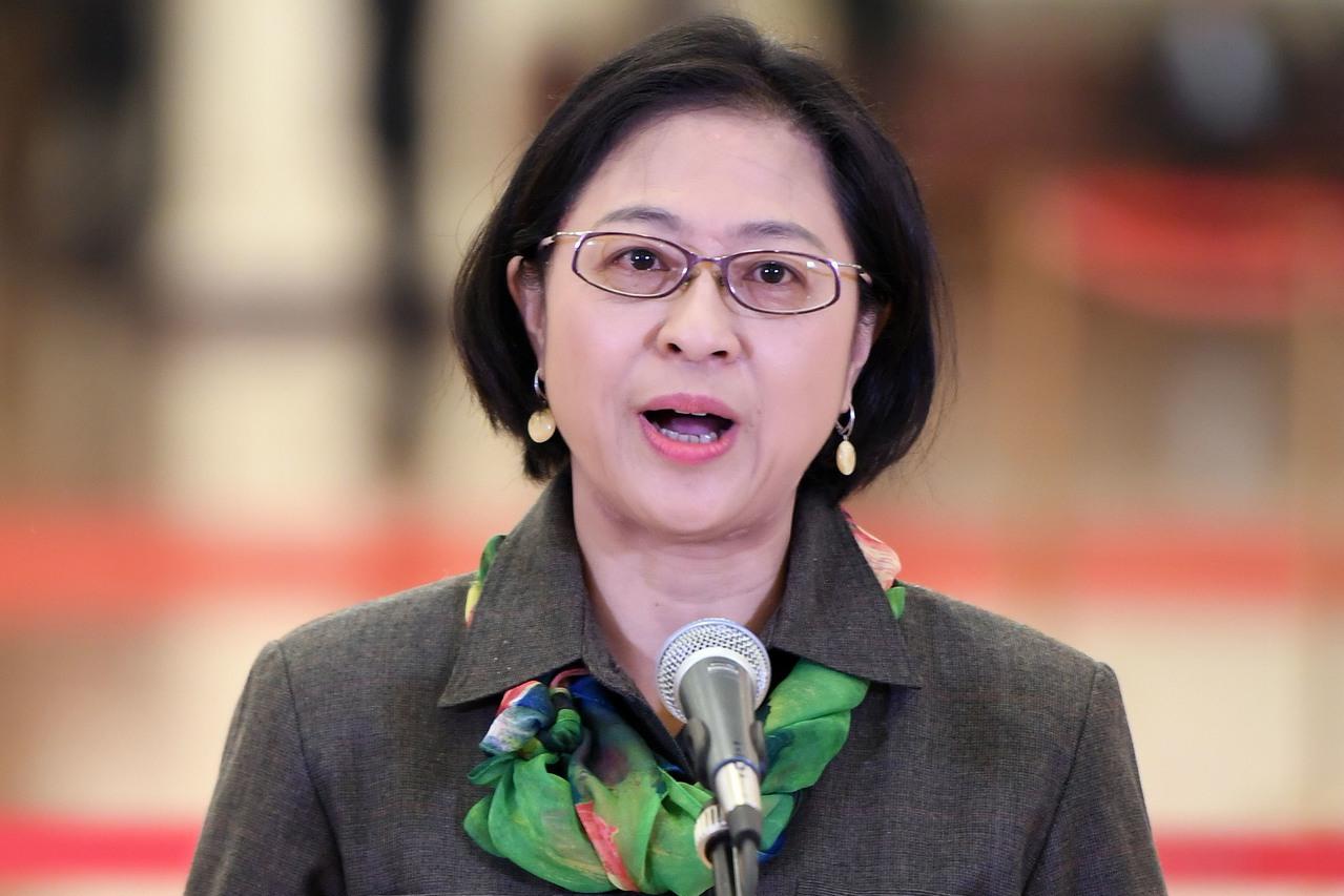 高雄出生的盧麗安成為中共十九大黨代表後,台灣戶籍已被取消。 中新社