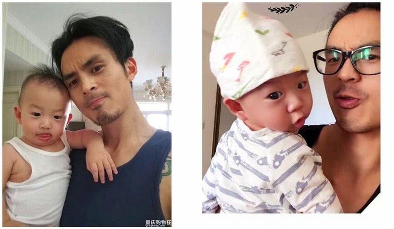 網友紛紛大讚何男是好老公、好爸爸。取材自重慶商報網