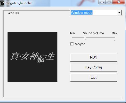 「RUN」開始遊戲,「Key Config」修改快捷建。