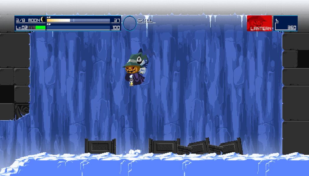 南瓜可以飄浮在半空中,能輕鬆避開各種地面陷阱。