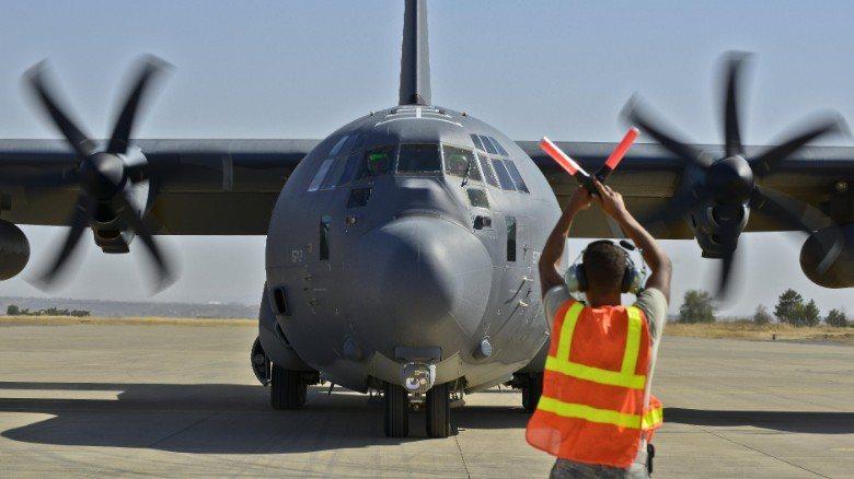 造價更高1億1060萬美元的美軍C-130運輸機前年也在阿富汗墜毀。 (CNN)