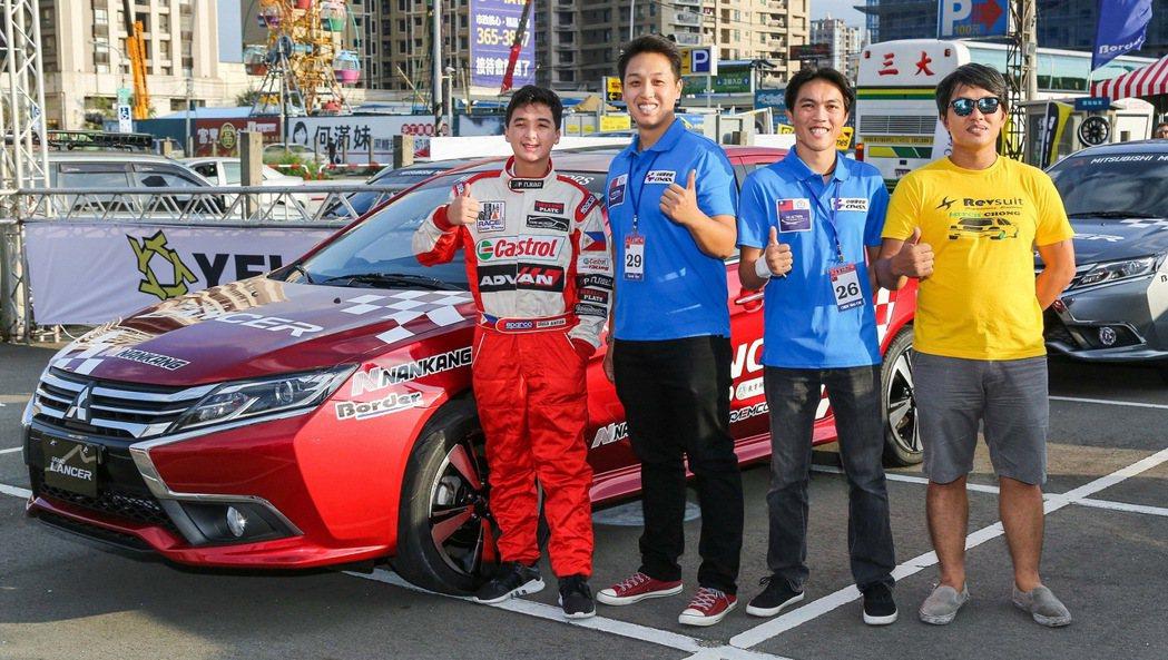 金卡納大賽菲律賓12歲賽車神童Inigo Anton與台灣冠軍車手廖君豪等好手齊聚競賽。 圖/中華三菱提供