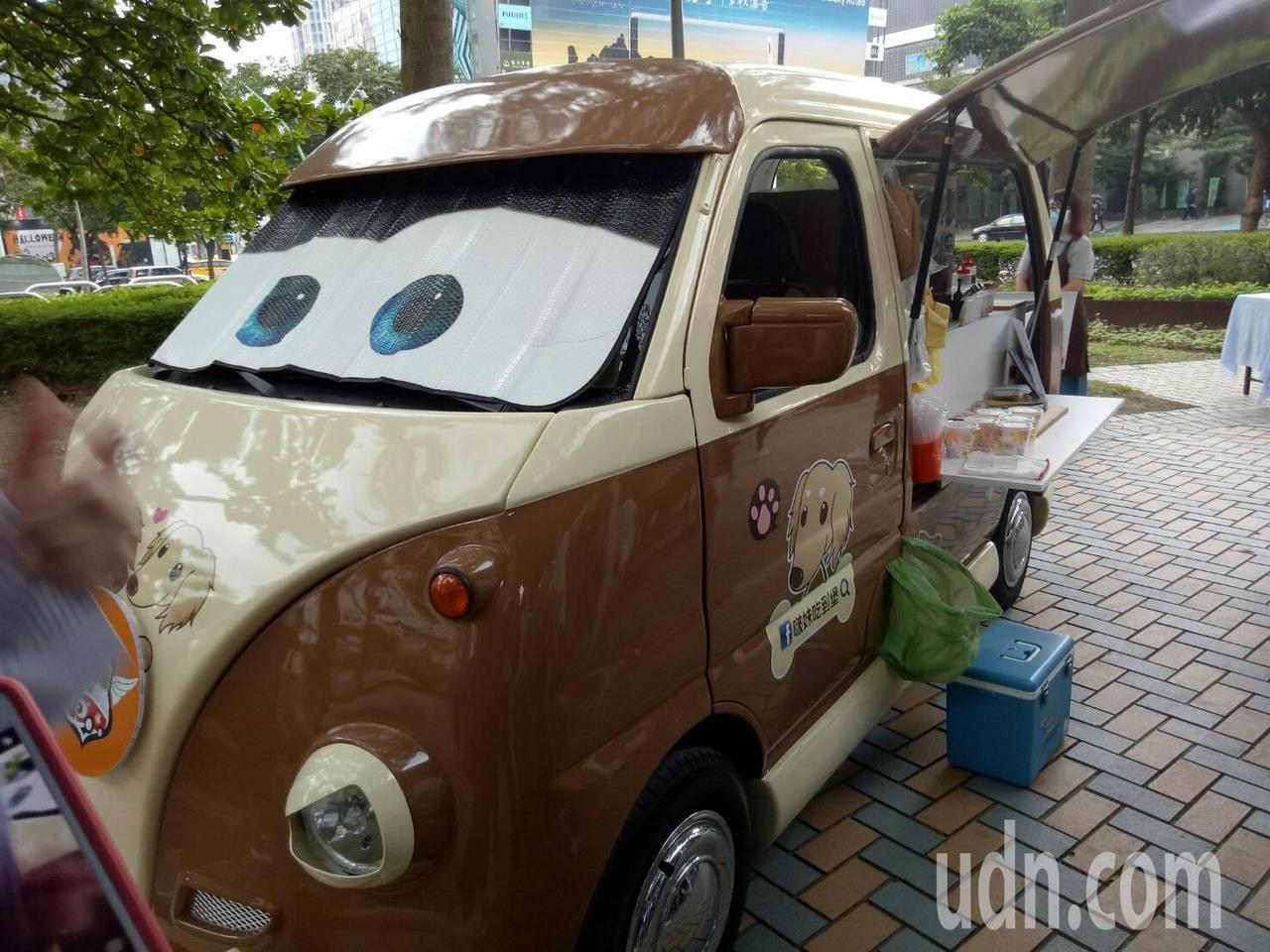 外觀可愛的行動餐車,未來將可在北市的救災現場看到它的身影。記者吳思萍/攝影