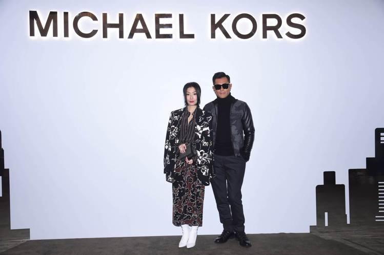 古天樂和鄭秀文出席MK香港圓方店開幕。圖/MICHAEL KORS提供