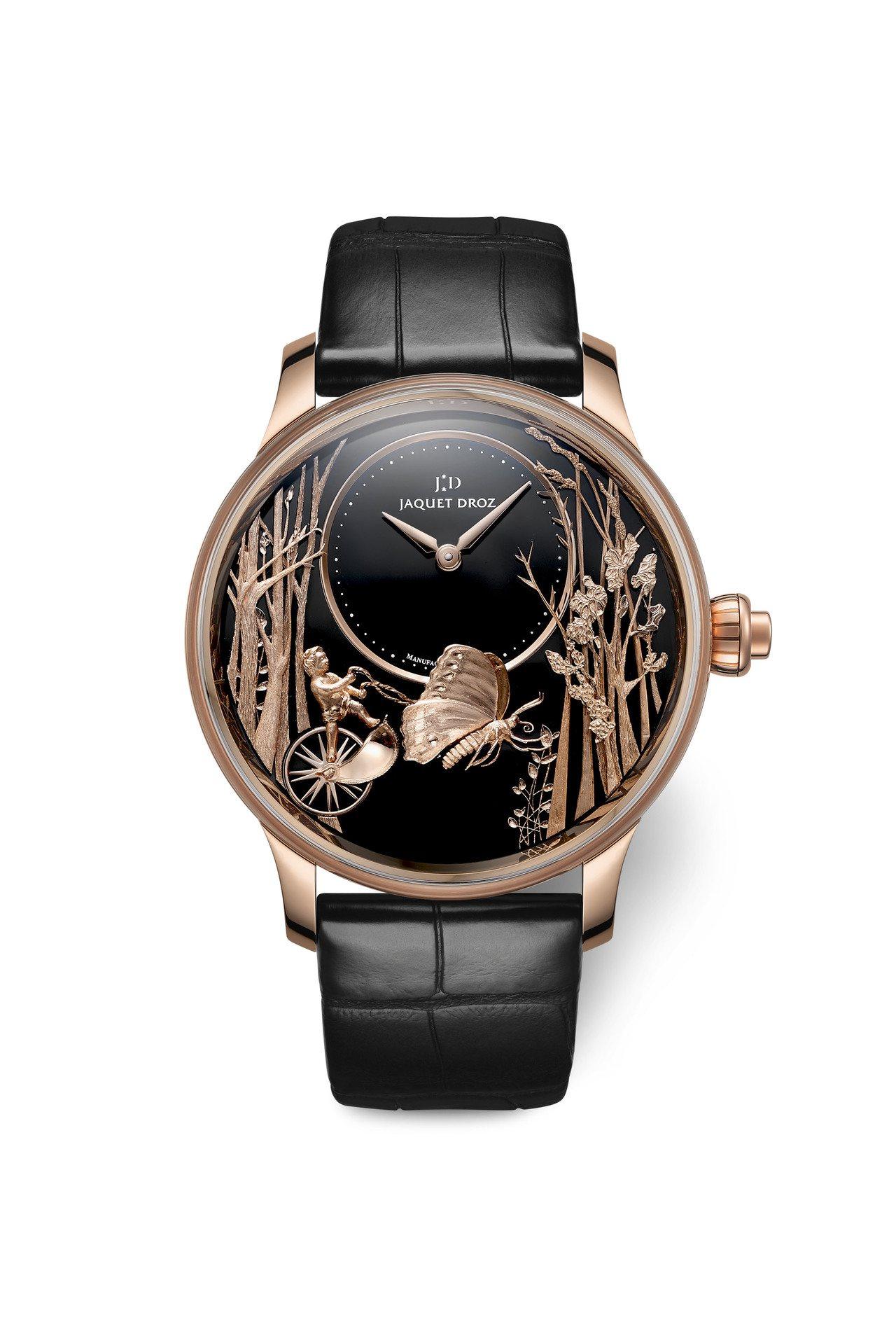雅克德羅愛之蝴蝶自動玩偶腕表,限量28只,約429萬5,000元。圖/Jaque...