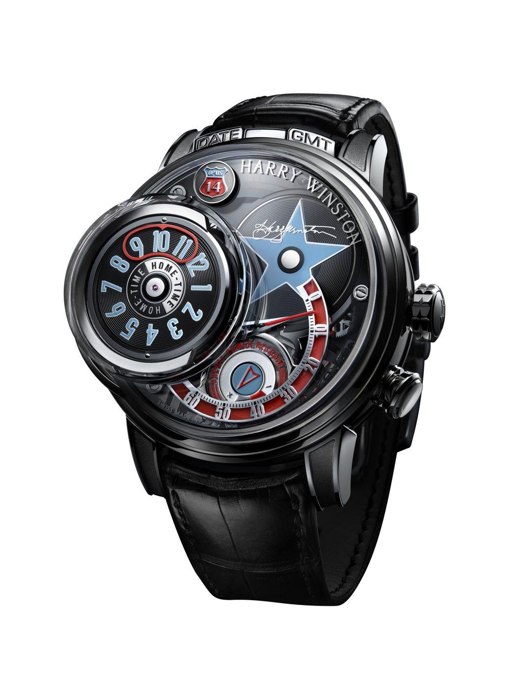 海瑞溫斯頓OPUS 14腕表,具有活動微縮點唱機機制,限量50只,約1,464萬...