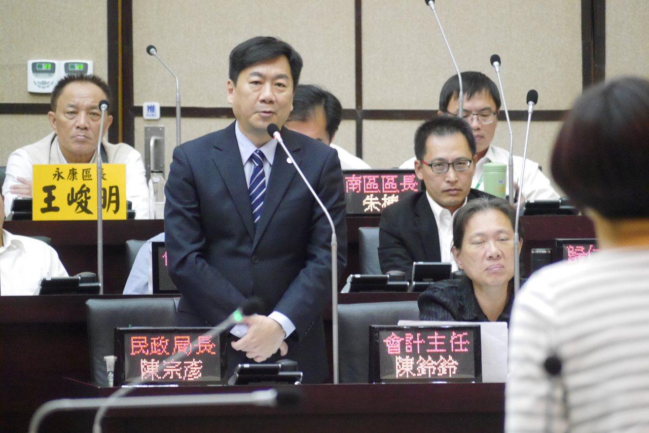 台南市民政局長陳宗彥。記者鄭維真/攝影