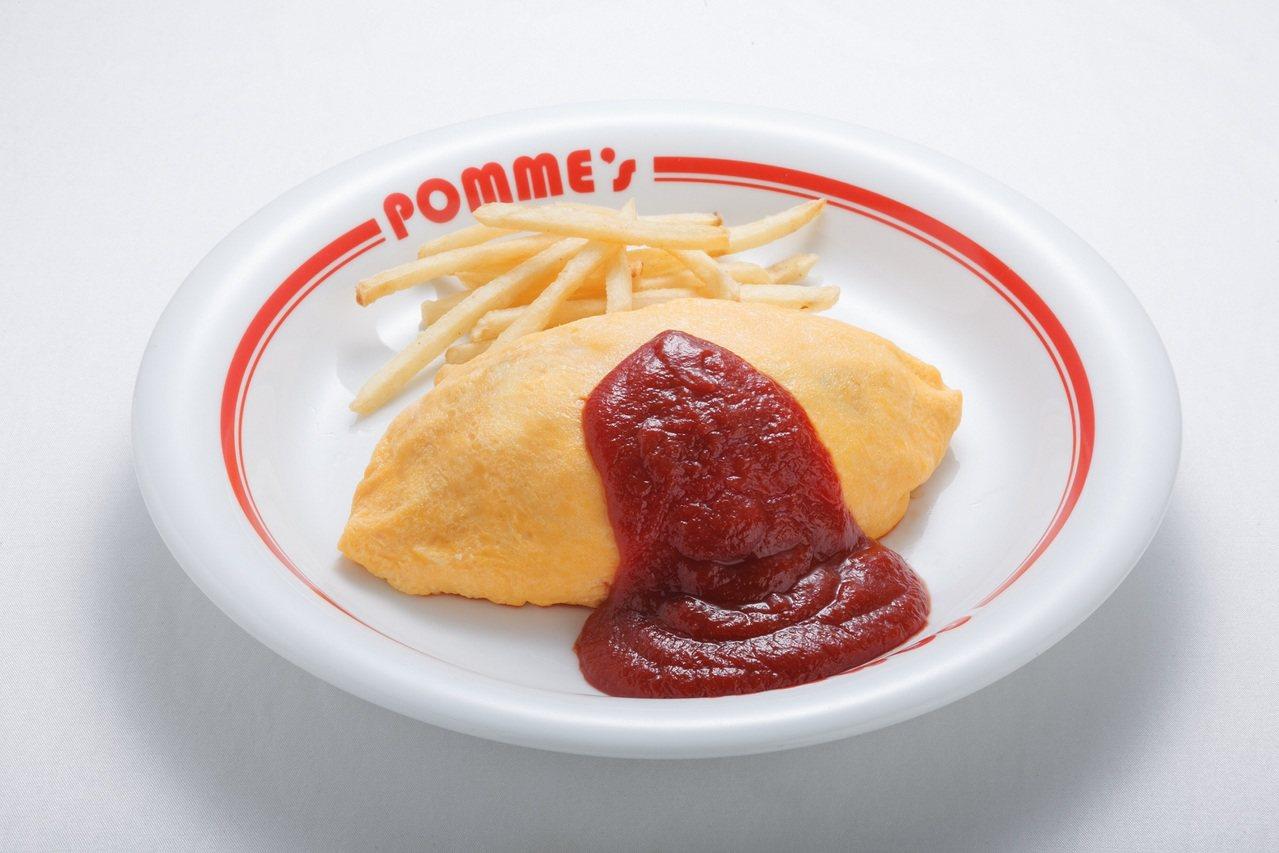 Pomunoki蘋果樹創意蛋包飯經典蛋包飯,140元。圖/新光三越提供