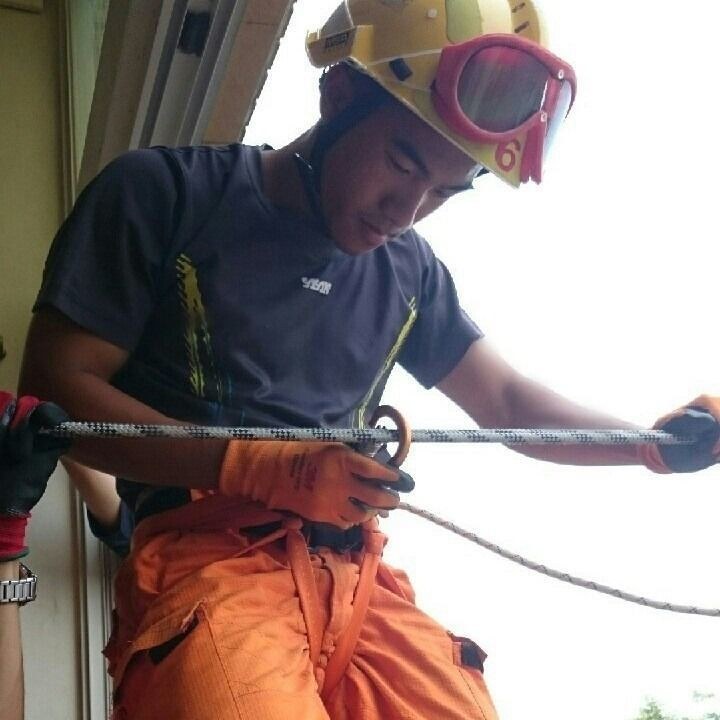 林姓消防員平時表現優異,更是今年常訓第一名。記者郭宣彣/翻攝