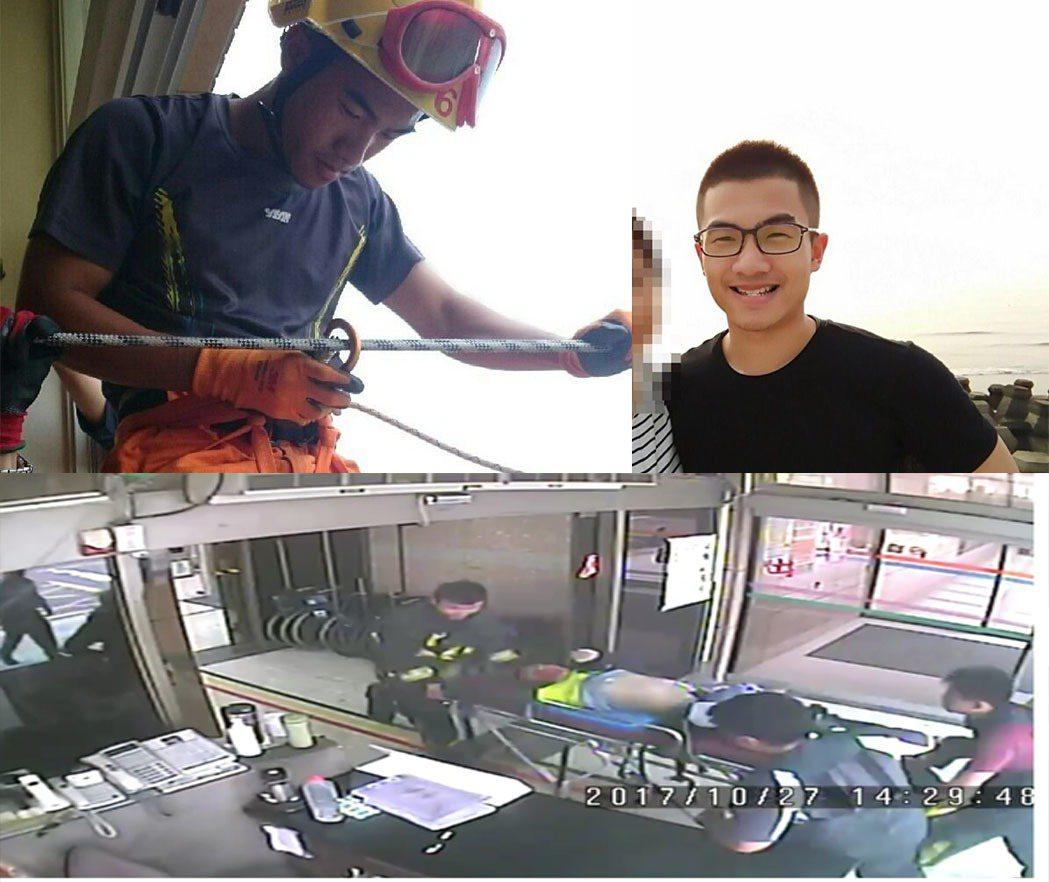 林姓消防員搶救光電廠,不幸殉職。記者郭宣彣/翻攝