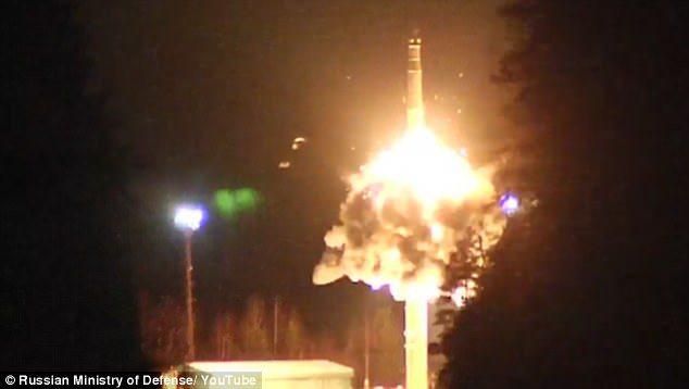 撒旦2發射升空的實況。(圖/俄羅斯國防部)