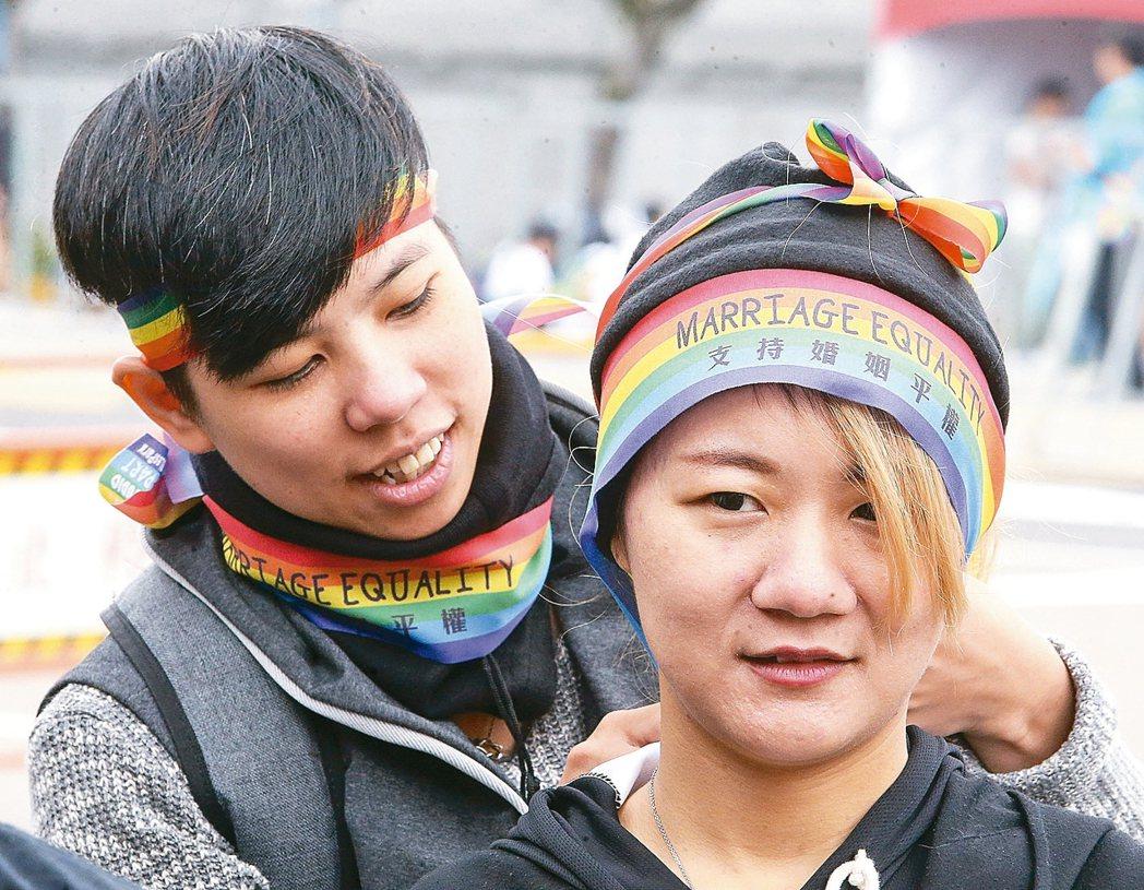 同志遊行今天下午登場。 記者黃威彬/攝影