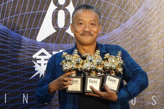 第8屆金音創作獎頒獎28日晚間在台北舉行,金曲台語歌王謝銘祐(圖)一舉奪下最大獎