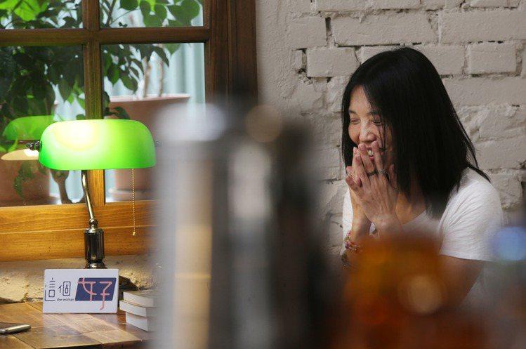 陳正菁認為她是一個窮開心的人。圖/記者林俊良攝影