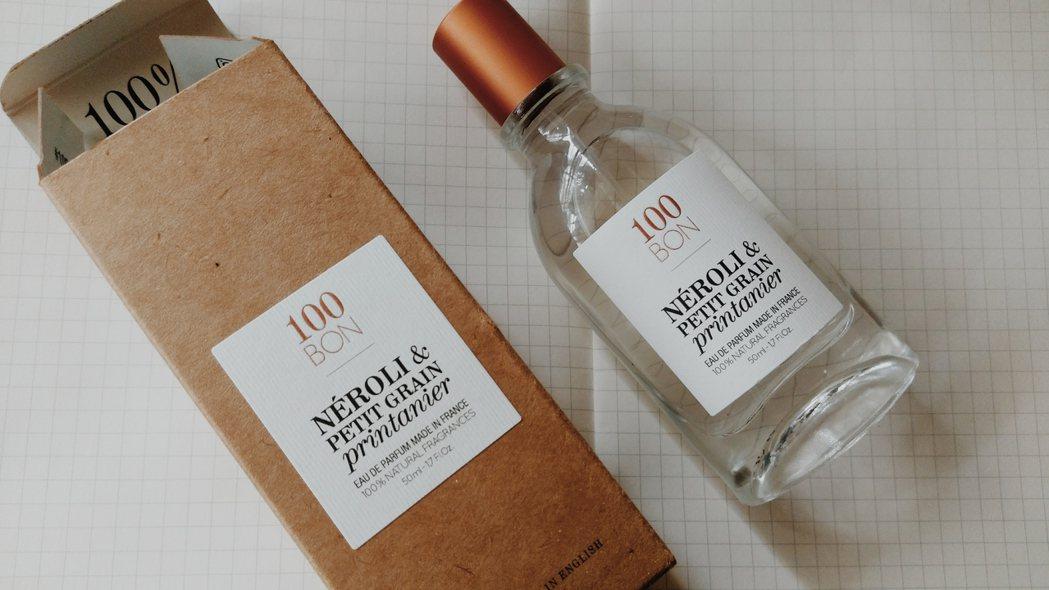 100BON崇尚簡約的香水包裝,沒有過多不必要的裝飾。圖/江佩君攝影