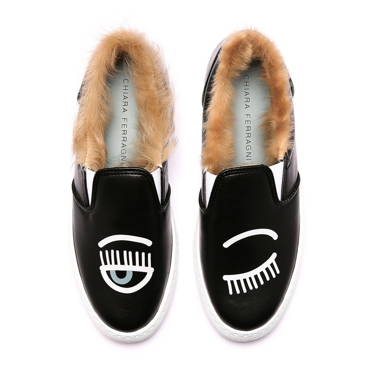 CHIARA FERRAGNI Flirting毛毛厚底鞋,價格店洽。圖/CHI...