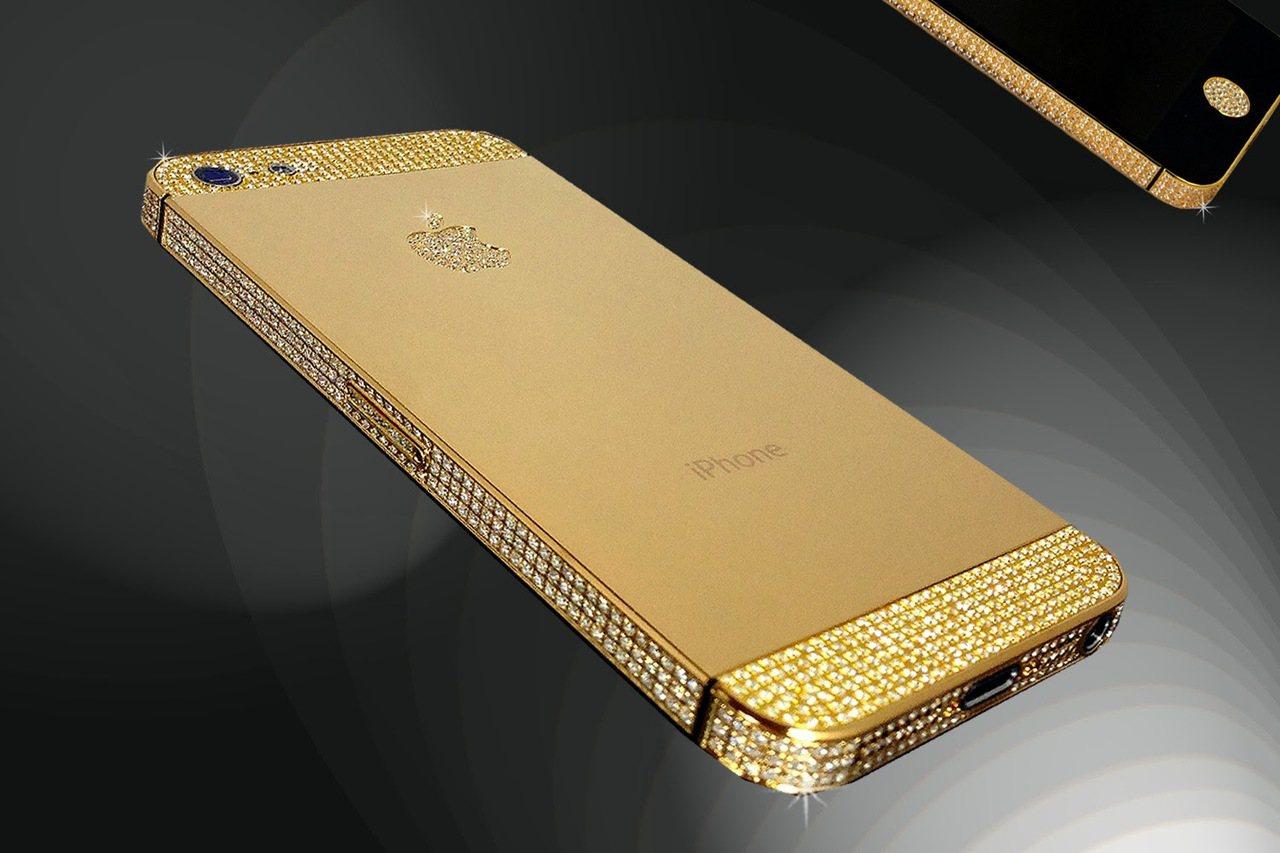 黃金版iPhone。(圖/取自網路)