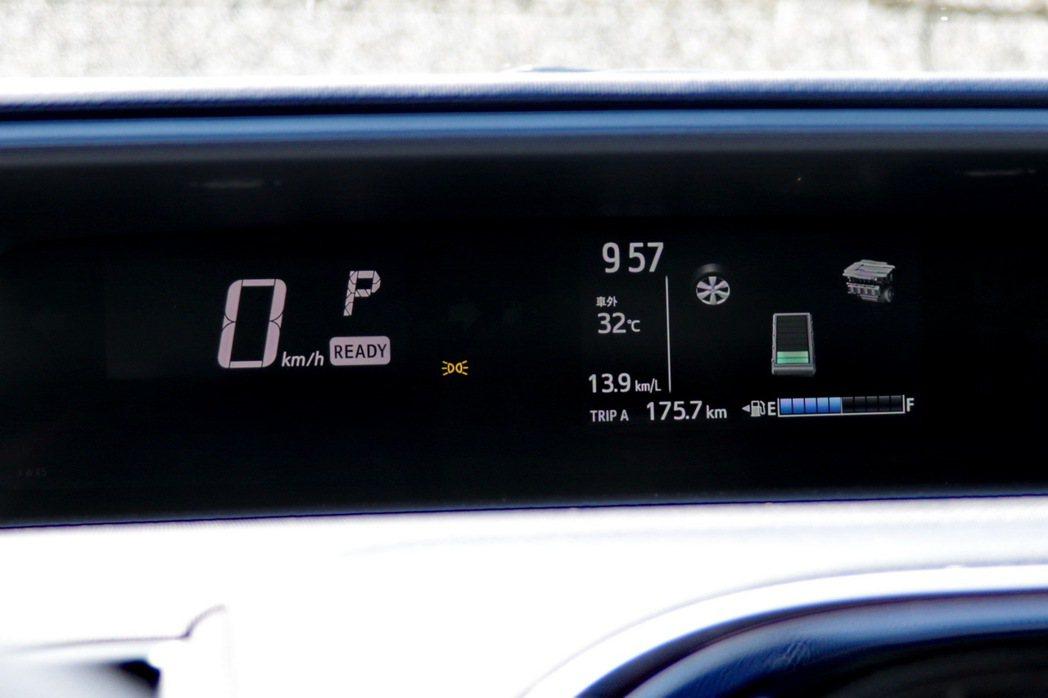 中置的儀表板MID顯示幕小小從3.5吋升級至4.2吋。 記者陳威任/攝影