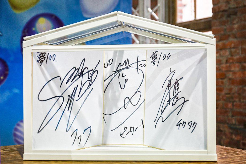 夢100繁中版王子聲優簽名,現場抽選幸運玩家贈送,掀起活動高潮。