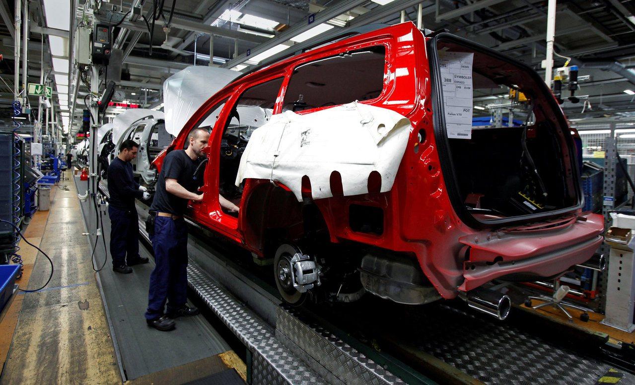 瑞典哥特堡的富豪汽車(Volvo)廠。路透