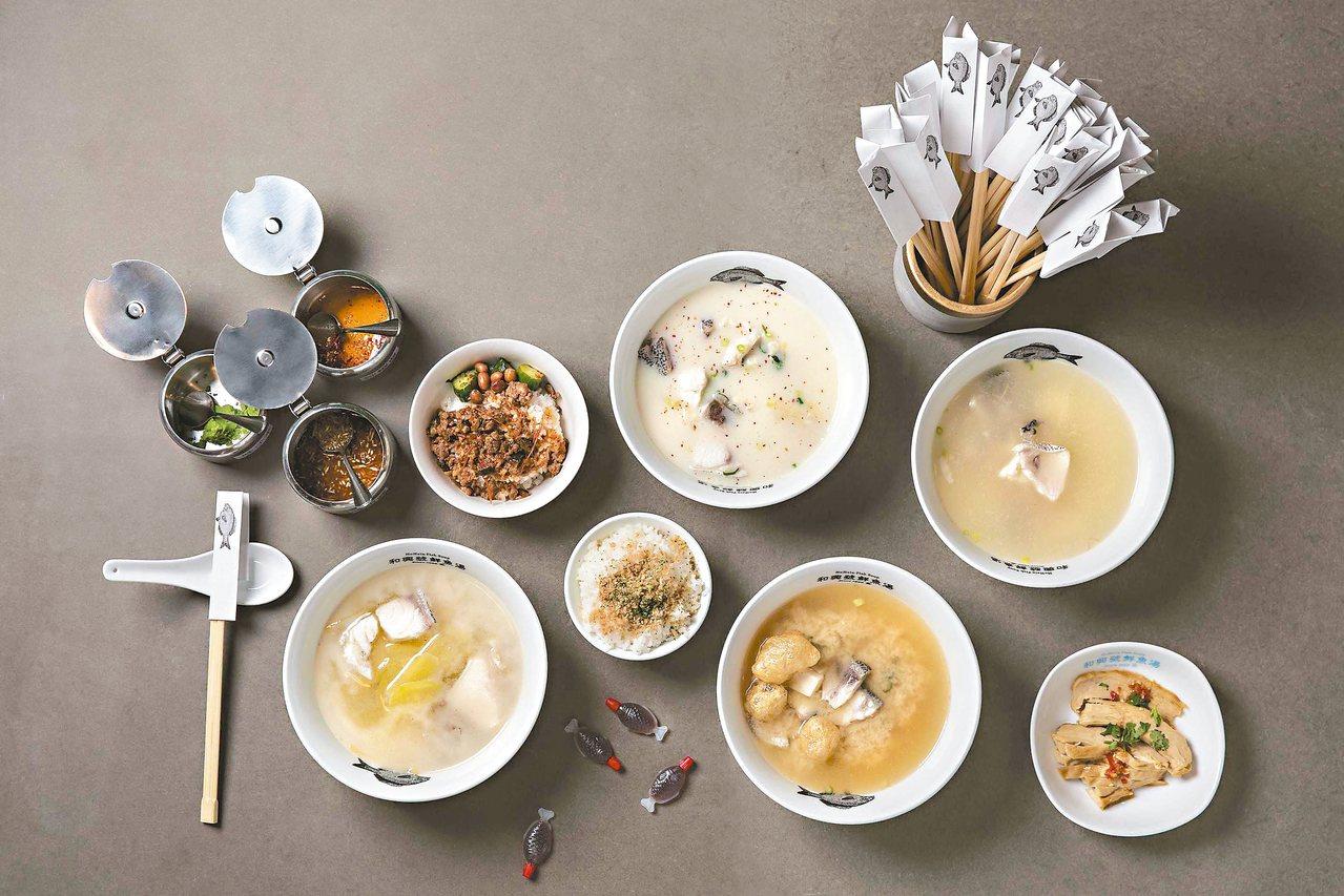 點了滿滿一桌,豐富好食。 圖/和興號鮮魚湯提供