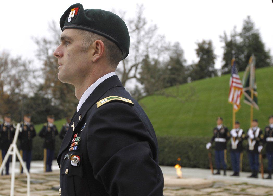 綠扁帽部隊是美國陸軍的精銳突擊隊,圖為一名該部隊成員。 美聯社