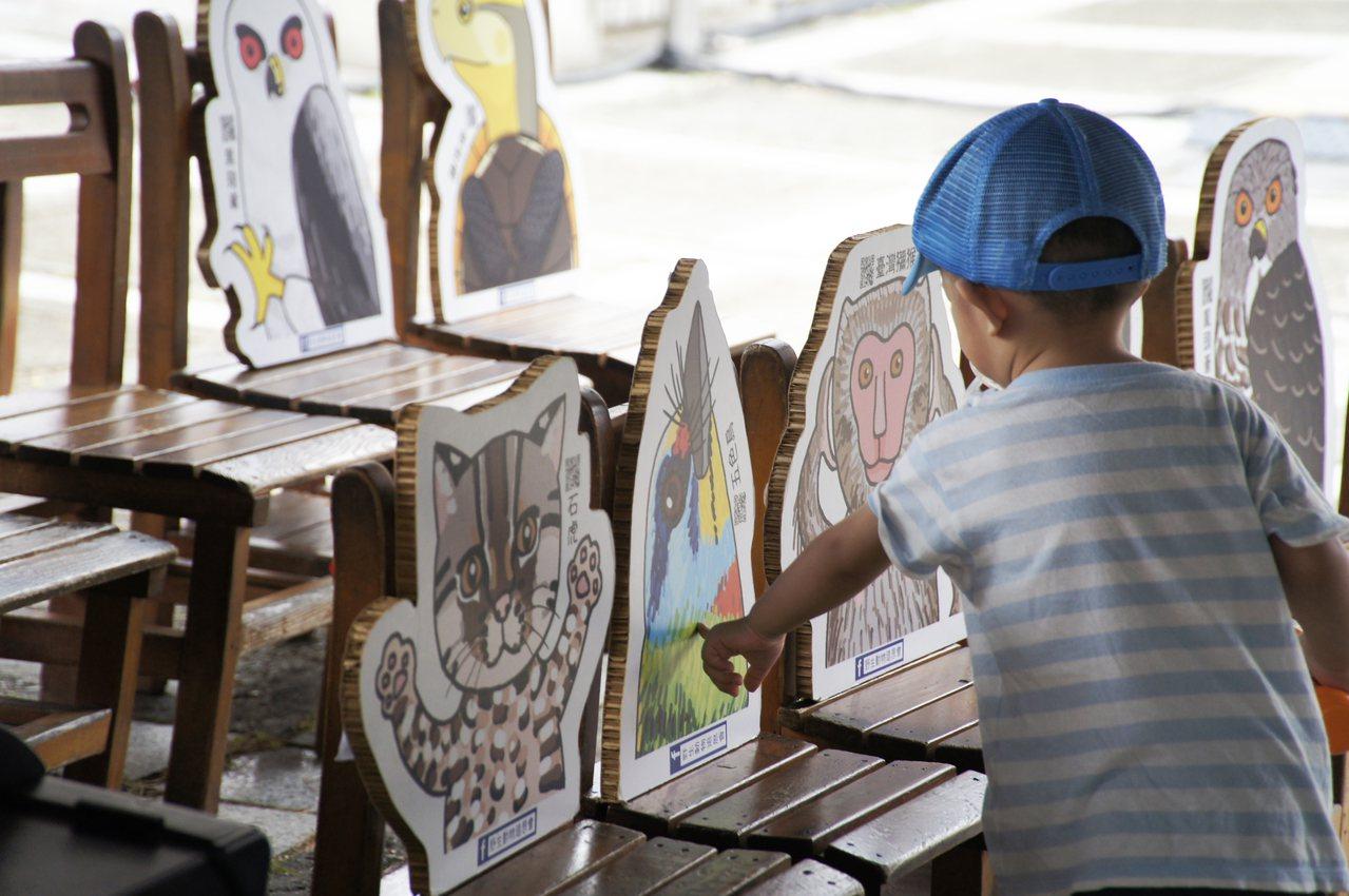 小學堂每個椅背上都有一位台灣本土的野生動物,希望學員聽講之後,也能多認識「這天跟...