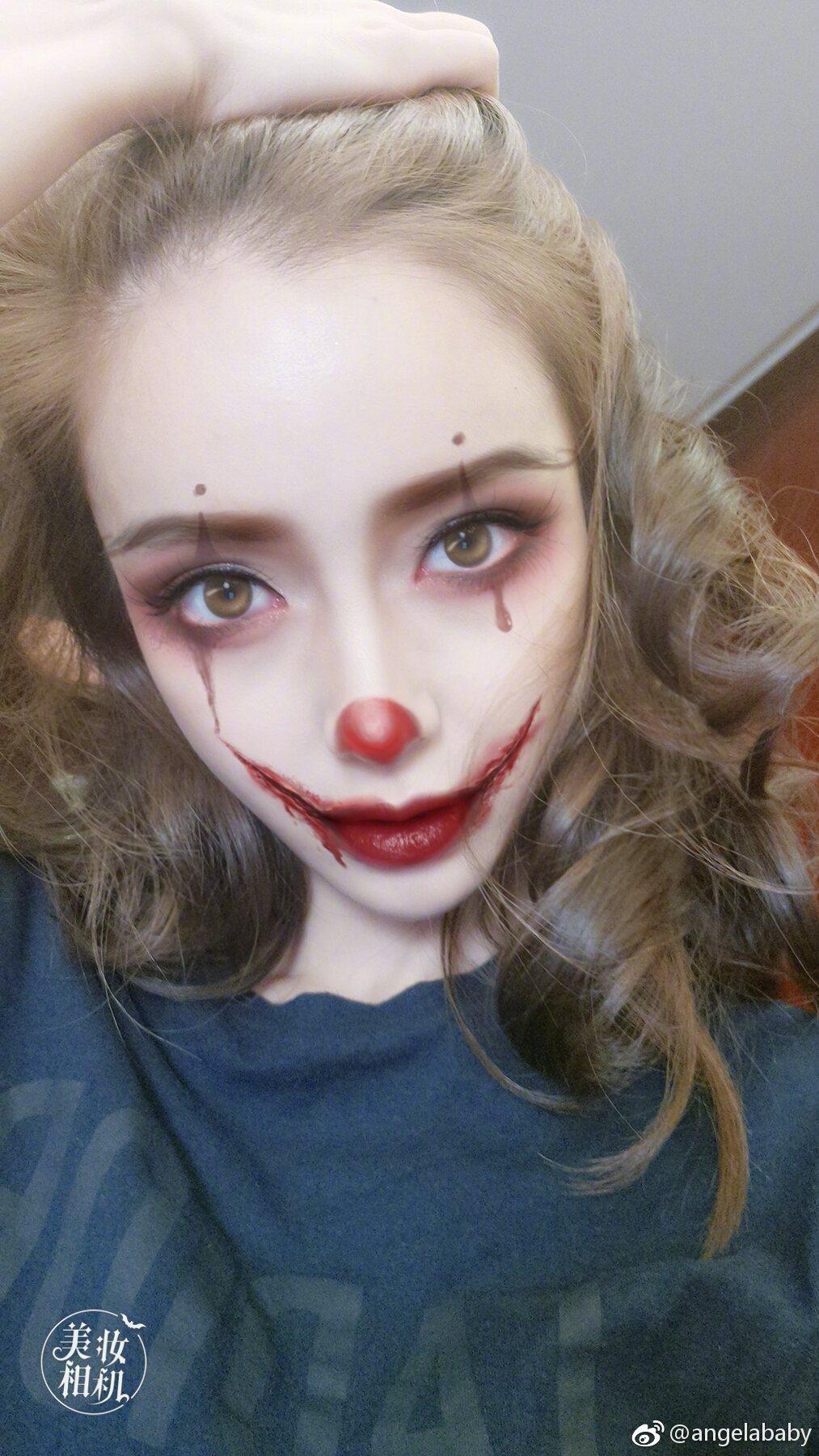 許多網友表示,Angelababy連扮鬼都很美。 圖/擷自微博。