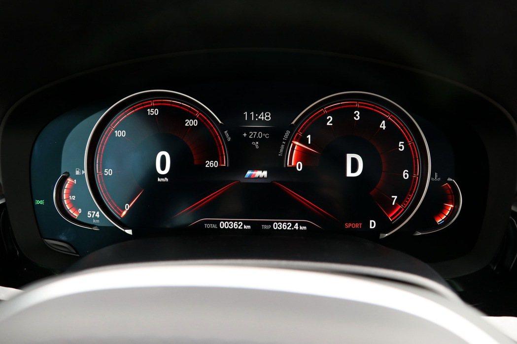 2.3吋多重行車模式全數位儀錶板相當實用。 記者陳威任/攝影