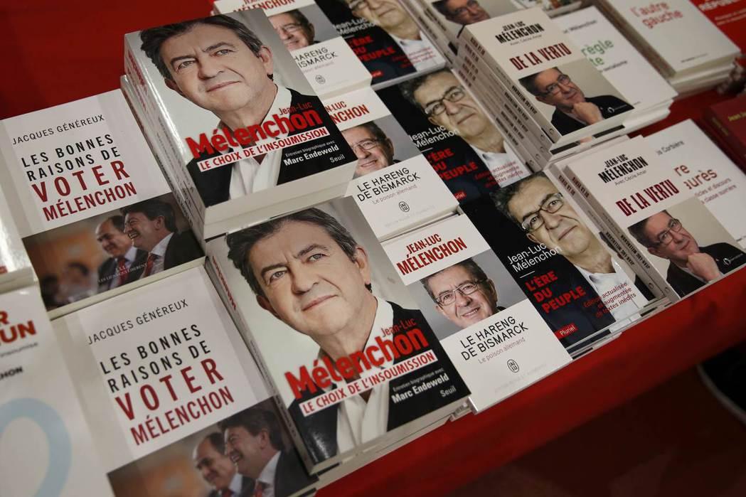 法國極左政治人物梅朗雄在著作《俾斯麥鯡魚(德國毒藥)》(Le hareng de...