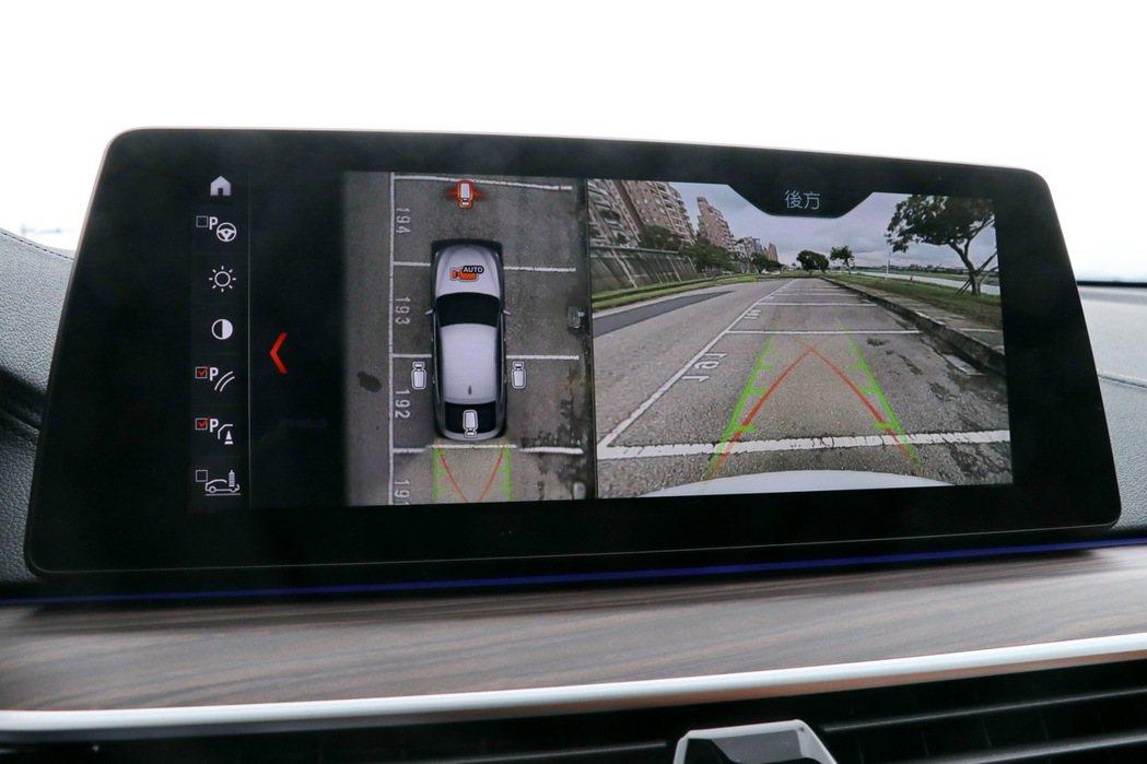 360度環景輔助攝影讓尺寸稍大的車款更能安心暢快上路。 記者陳威任/攝影