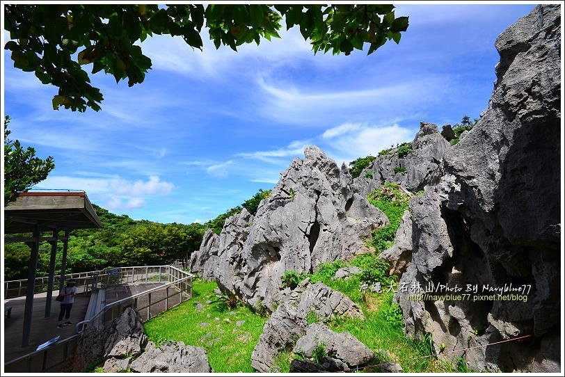 ↑烏帽子岩是一處石林景觀,一座座奇形怪狀的石灰岩石直直矗立,單一顆可能不足為奇,...