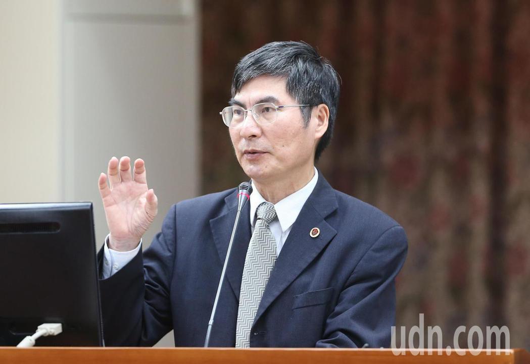 科技部長陳良基赴立法院備詢。記者許正宏/攝影