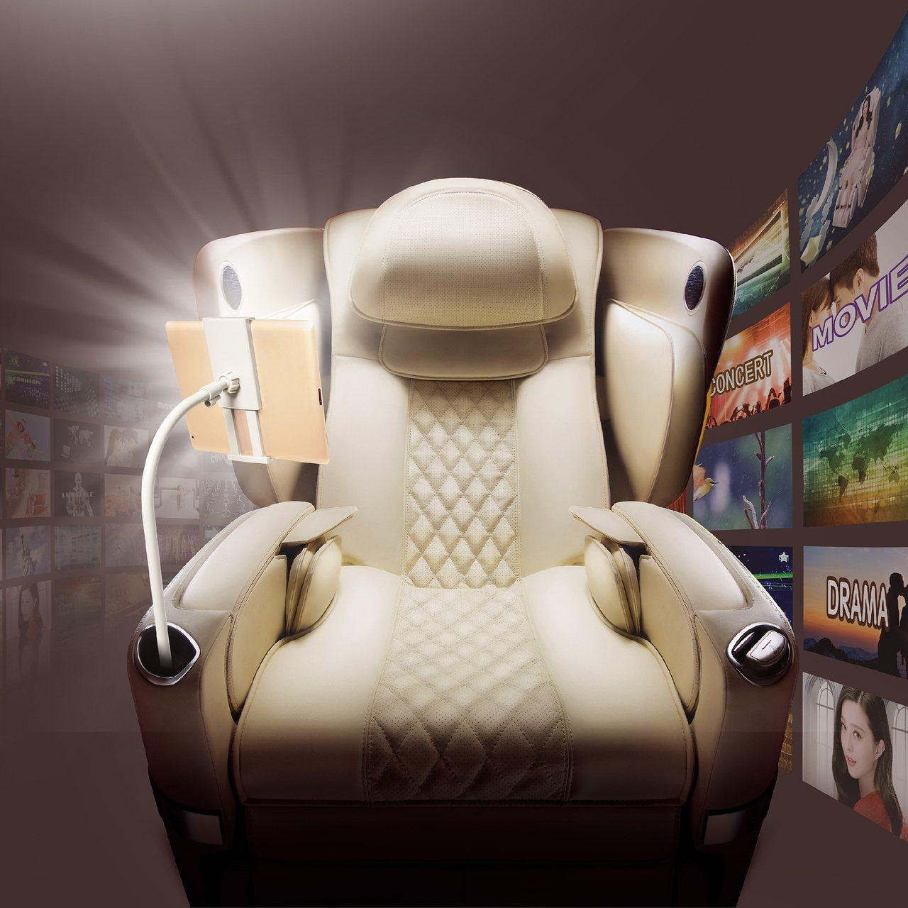 OSIM白馬王子按摩椅影音特仕版。圖/OSIM提供