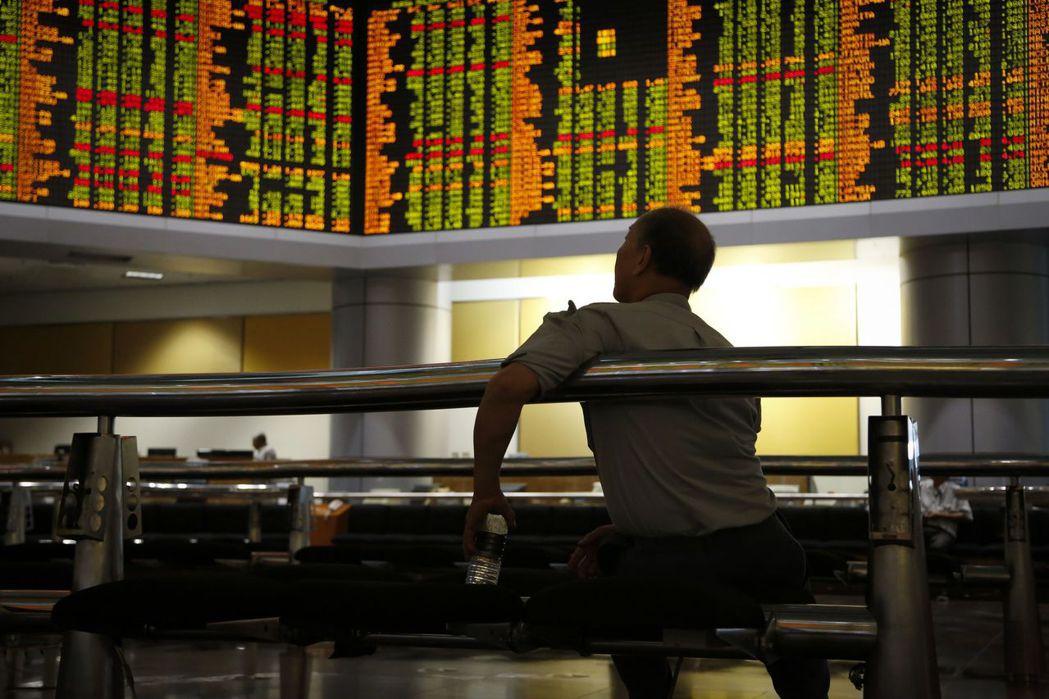 大陸股市。 美聯社