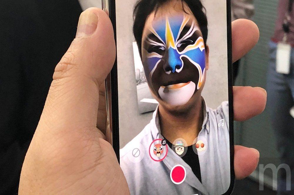 透過True Depth視訊鏡頭對應變臉應用