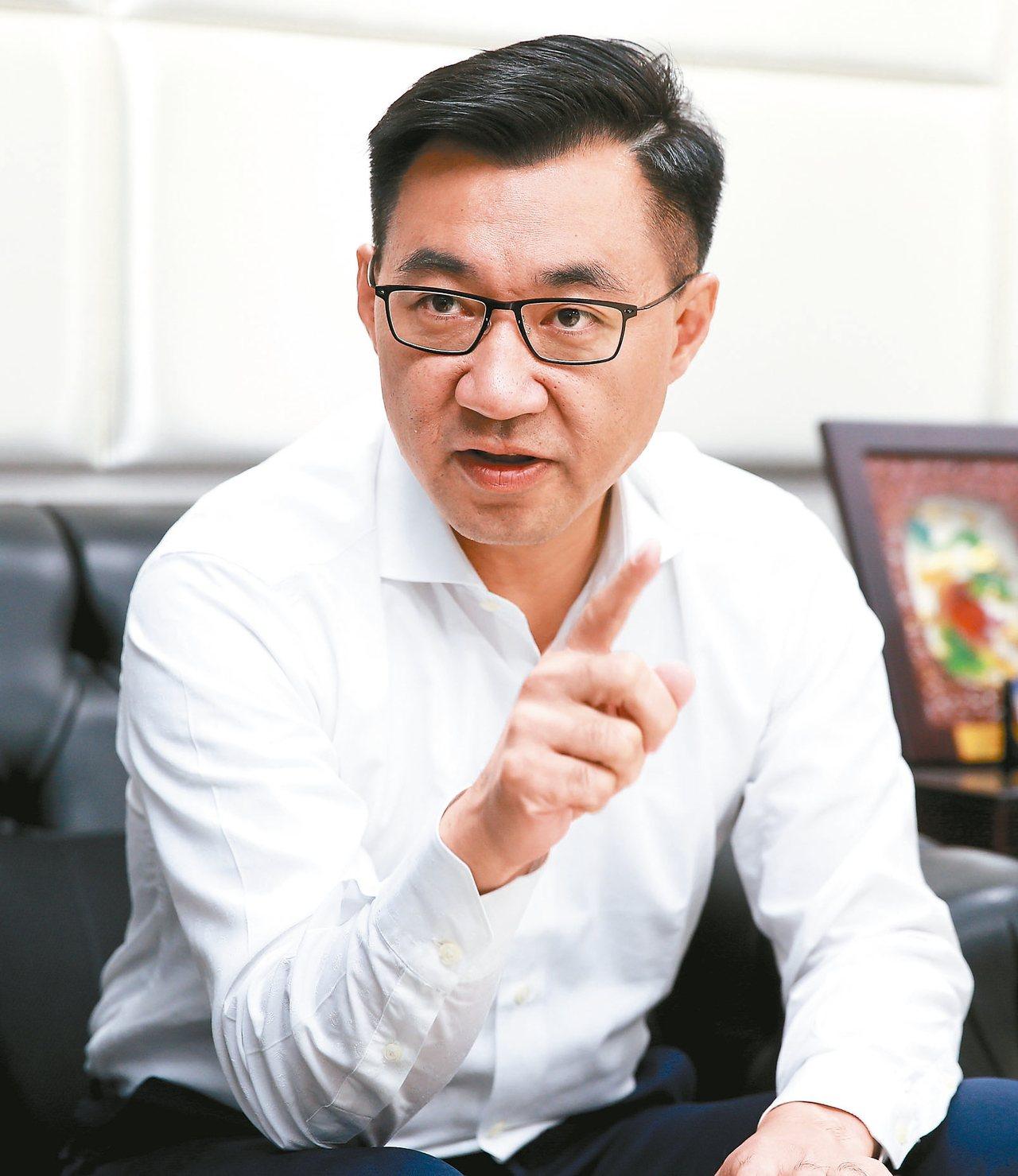 國民黨籍立委江啟臣準備投入台中市市長選舉。 記者程宜華/攝影