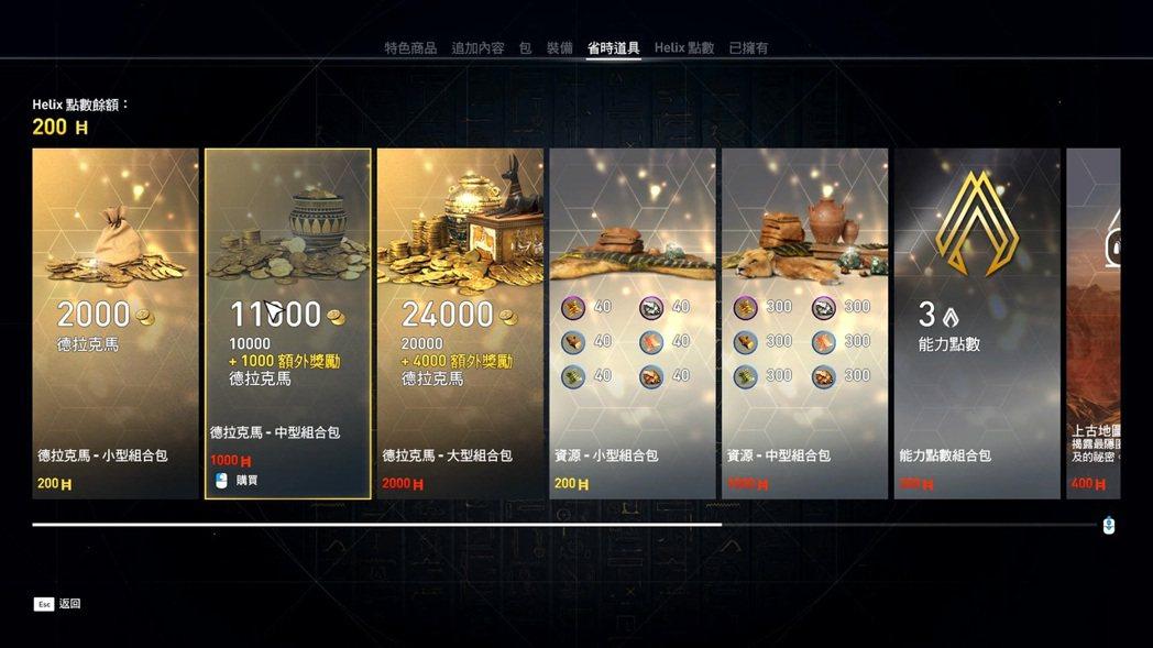 遊戲中也有花錢購買技能點的選項。